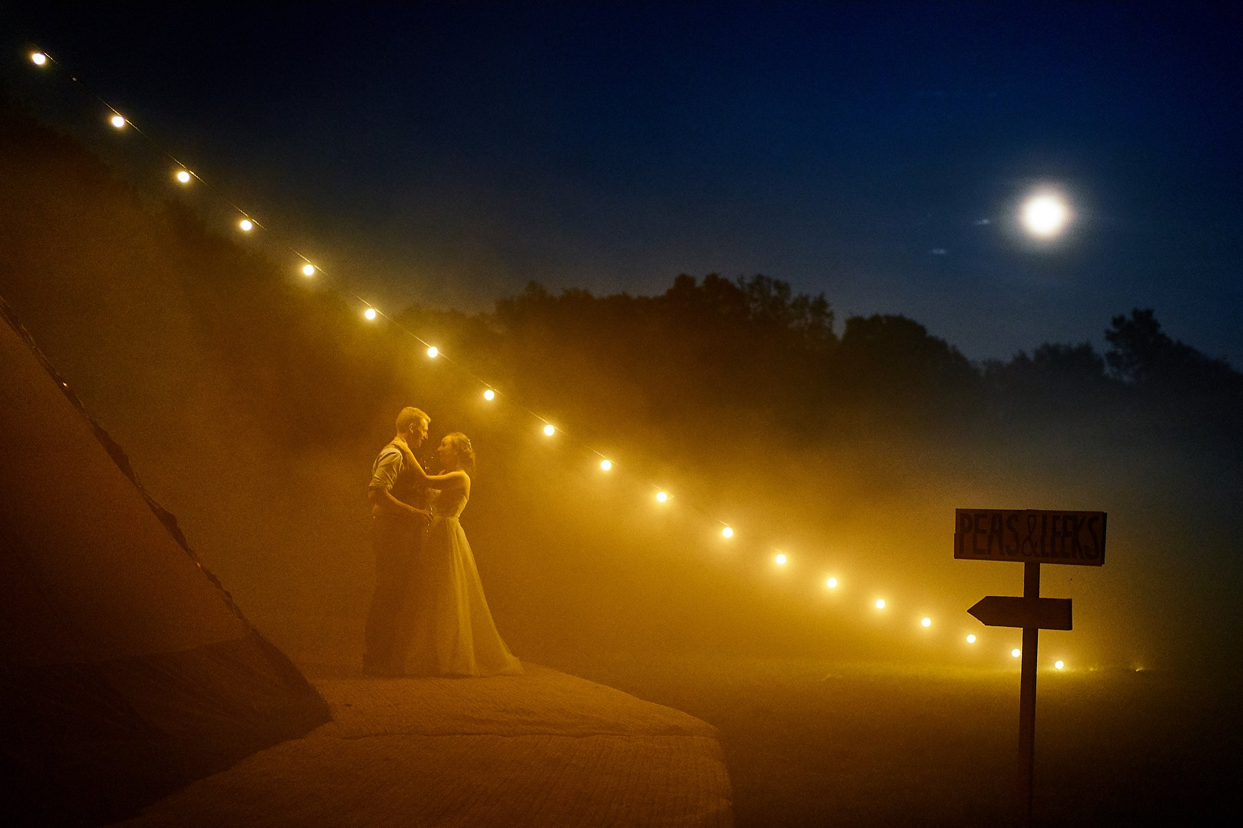 tipi-wedding-pictures-and festoon-lighting